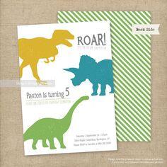 Invitación de cumpleaños de dinosaurios por LingsDesignStudio