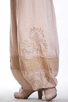 Linen Dimension Pant Printed