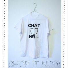 SHOP IT NOW ON STRADIVARIUSISTERS.BLOGSPOT.COM or stradivariusisters@gmail.com #fashion #chanel #chatnell #cat #streetwear #ootd Street Wear, Chanel, T Shirts For Women, Cat, My Style, Sisters, Stuff To Buy, Shopping, Tops