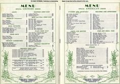 Nankin Cafe Menu, 1926 Special Collections at... | Hennepin County Library