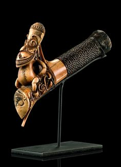 """Hilt of a sword """"mandau"""" 