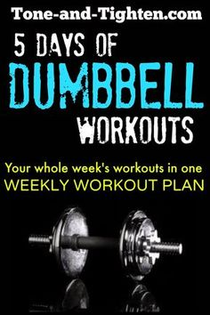 5550a4e50d0 Weekly Workout Plan – 5 days of great dumbbell workouts to train your whole  body!