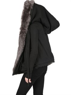 REVERSIBLE FUR AND FLEECE SWEATSHIRT the only thing I need in my wardrobe this year please