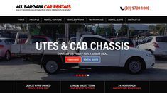 All Bargain Car Rentals, Low Cost Ute Hire, Van Rental, Car Hire & People Mover Vehicle Rentals Quality Quotes, Commercial Vehicle, Car Rental, Melbourne, Vehicles, Car, Good Quotes, Great Quotes, Vehicle
