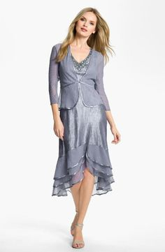 Split Hem Charmeuse Dress & Jacket For my mum i think she would look so cute