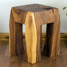 Stool or stand Natural Wood furniture Tung Oil