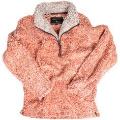 Frosty Tipped Pile 1/2 Zip Pullover in Spice by True Grit