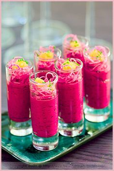 Beet Mousse and Radish Mise en Bouche | Flickr - Photo Sharing!