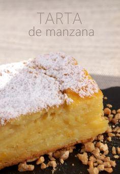 Tarta de manzana, con poca harina y azucar