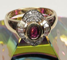 18k Semi-Ballerina Ruby Diamond Ring