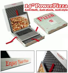 Pizza box laptop carrier! woooo!