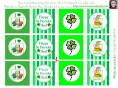 free st patricks day printables from rose and cook