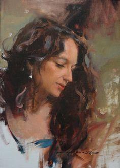 (usa) Portrait of Rene by Daniel F. Portrait Sketches, Portrait Art, Portrait Paintings, Manet, Picasso, Paul Gaugin, Pastel Portraits, South African Artists, Face Art