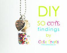 Cute Treats: DIY rainbow bubblegum necklace!
