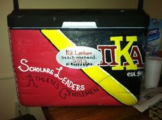 PIKE painted cooler idea... must make for jon