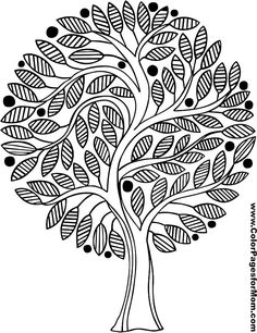 Tree Coloring Page 18 Colorful Drawings Sheets Books Colouring