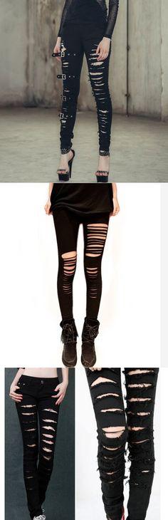 Shop cool ripped punk leggings at RebelsMarket!