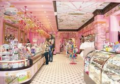 Choosing a cool treat at Sloan's Ice Cream at CityPlace, West Palm Beach