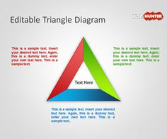 Editable Triangle Diagram for PowerPoint is a free triangle PowerPoint template and slide design that you can download to use in your own presentations #triangle #powerpoint