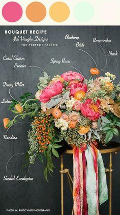 Bouquet Recipe: Juli Vaughn Designs | The Perfect Palette