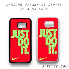 Awesome nike just do it red Phone case for samsung galaxy S6 & S6 EDGE