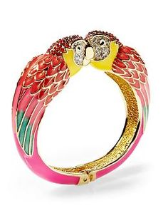 Parrots for a bird brain like me.  Would be even cuter if it was all silver.