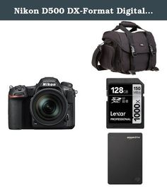 Nikon D500 DX-Format Digital SLR with 16-80mm ED VR Lens w/ Seagate 1TB Hard Drive and Accessories. 20.9MP DX-Format CMOS Sensor. EXPEED 5 Image Processor. Store, carry and protect your camera equipment. Slot for iPad Mini, Google Nexus 7, Amazon Kindle Fire. Form Factor: SDXC UHS-II Memory Card. Storage Capacity: 128 GB. Easily drag and drop files from your Mac or PC to the Seagate Duet. They'll sync with your Amazon Drive account, providing dual backup. Back up files from your…
