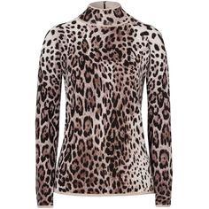 Olsen Animal print jumper ($150) ❤ liked on Polyvore featuring tops, sweaters, dark brown, women, brown sweater, turtleneck tops, turtle neck tops, turtleneck sweater and jumpers sweaters