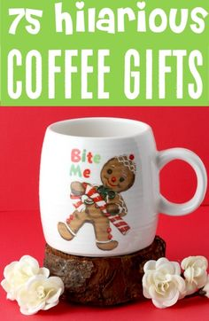 Gifts for Women Huge List of Fun Coffee Lover Gift Ideas! Perfect for Coworkers. Gifts for Women Huge List of Fun Coffee Lover Gift Ideas! Perfect for Coworkers or any coffee drinkers on your gift Unique Gifts For Men, Quirky Gifts, Gifts For Women, Coffee Lover Gifts, Gift For Lover, Teen Guy Gifts, Best White Elephant Gifts, Gift Baskets For Women, Mothers Day Presents
