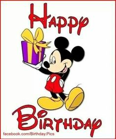 Happy Birthday Wishes From Mickey Mouse Card Happy Birthday Mickey Mouse, Happy 35th Birthday, Birthday Cartoon, Mickey Mouse Parties, Mickey Party, Happy Birthday Images, Birthday Pictures, Happy Birthday Wishes, Minnie Mouse