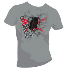 Dark Horse Series T-shirt Graphic Design by Andrzej Poniatowski, via Behance