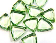 Obsidiana Verde Trillion Gema Lapidado Facetado Para Montagem de Joias Reff 10.8