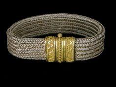 Woven Bracelet & 22K Granulated Clasp
