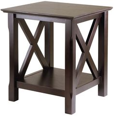 Architectural End Table Living Room Furniture Bedroom Nightstand Brown Modern #Winsome #ModernTraditional
