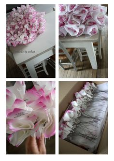 Amazing paper flowers and vases