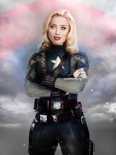 Someone Swapped The Genders Of The Avengers And It's Perfect Amber Heard as Captain America