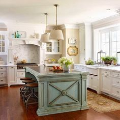 This island would add a pop of color to the kitchen and replace the island that I have now. #LGLimitlessDesign & #Contest