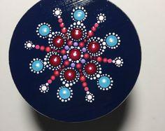 Pintado a mano de Mandala sobre lienzo meditación por MafaStones
