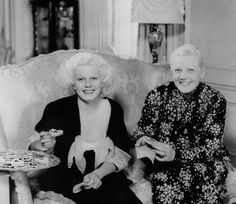 Jean Harlow and her mother, Jean Bello, 1934.