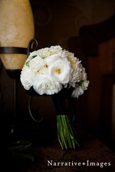 All white bridesmaid's bouquet