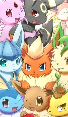 Eevee evolutions phone wallpaper - My Wallpaper Pokemon Legal, Gif Pokemon, Pokemon Images, Pokemon Fan Art, Eevee Wallpaper, Cute Pokemon Wallpaper, Cute Cartoon Wallpapers, Eevee Cute, Cute Pikachu