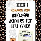 Halloween themed activities/centers with common core alignment. Awesome stuff! :)