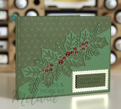 Simple Christmas Cards, Christmas Border, Stampin Up Christmas, Xmas Cards, Handmade Christmas, Holiday Cards, Christmas Settings, Stampin Up Weihnachten, Stamping Up Cards