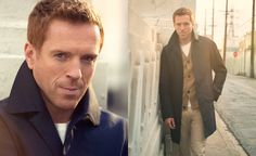 Damian Lewis for Mr. Porter. Coat by Gucci, Tee Gant Rugger, Trousers by Sandro, Cardigan by Bill Reid. Photography by Mr Kurt Iswarienko | Styling by Ms Gaelle Paul