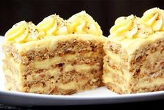 The most delicious recipes: Tasty nutty pies .- Самые вкусные рецепты: Вкусные ореховые пир… The most delicious recipes: Delicious nut cakes - Hungarian Desserts, Hungarian Recipes, Russian Recipes, Sweet Recipes, Cake Recipes, Dessert Recipes, Food Cakes, Cupcake Cakes, Russian Cakes