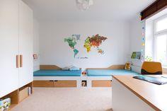 Nadčasový dětský pokoj s vytříbenými kousky nábytku