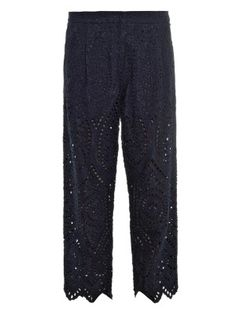 Riot Eyelet cropped trousers | Zimmermann | MATCHESFASHION.COM US