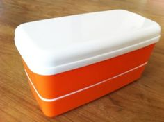 "Microwavable Bento Box Lunch Box Set with Chopsticks Orange by bnt. $8.00. The chopsticks can be stored in the top tier.. Compact design for easy storage after use - The bottom tier of bento box can be put inside the second tier after use or for storage.. Three tier bento box is microwave safe without lids.. 6.25""L x 3""W x 3.5""H. This is a traditional bento box set is microwavable without lid. The Bento box has three tiers, total capacity of 590 ml. The bottom tier holds 240 ml (..."