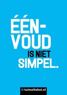 Eenvoud is niet simpel