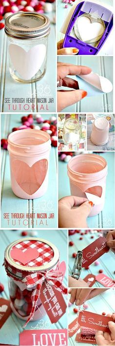 DIY- Gifts for your boyfriend and BFF – Seventeen Magazine - Geschenke Ideen Mason Jar Projects, Mason Jar Crafts, Diy Projects, Mason Jars, Gifts For Your Boyfriend, Diy Gifts, Diy And Crafts, Homemade Crafts, Valentines Day